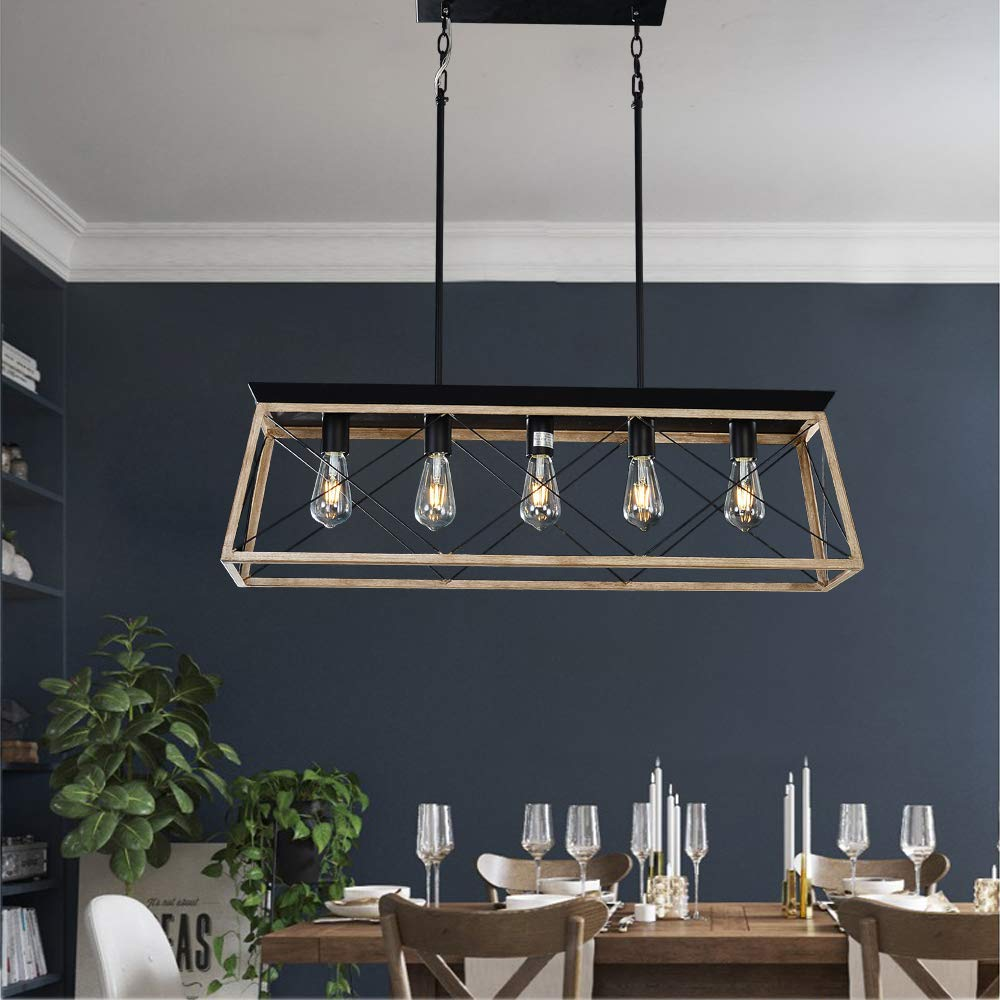 linear chandelier dining room rustic dearlan modern linear chandelier rectangular island chandeliers metal rustic ceiling lighting fixture industrial pendant lights for dining room
